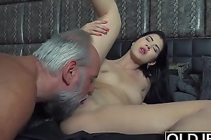 Young slutty classmate has sex with her professor in valentines day amazing fuck