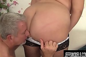 Passionate Geezer Takes His Time Enjoying BBW Jade Rose and Her Yummy Body