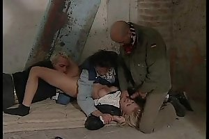 Flaxen-haired kidnapped off out of one's mind 3 men and should sex (italian)